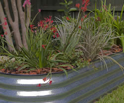 Corrugated steel garden beds